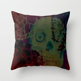 Catacomb Nightmare Throw Pillow