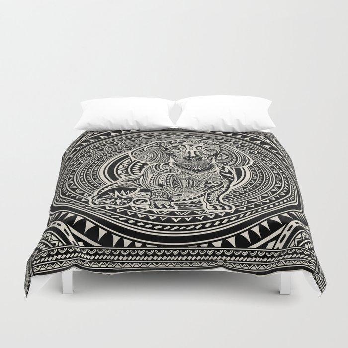 Polynesian Dachshund Duvet Cover