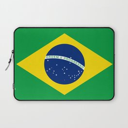Flag of Brazil - Hi Quality Authentic version Laptop Sleeve