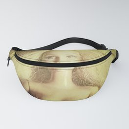 The old doll now is the new doll of a little girl Fanny Pack