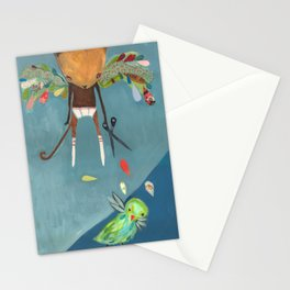naughty kitty Stationery Cards