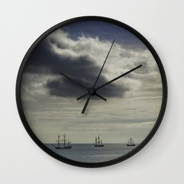 These three ships, Dublin Ireland Wall Clock