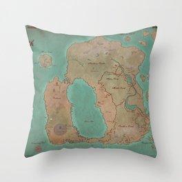 Map of Dereth //Asheron's Call Throw Pillow