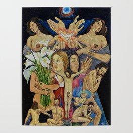 Mexican Theophany Teofania Mexicana by Juan Manuel Rocha Kinkin Poster