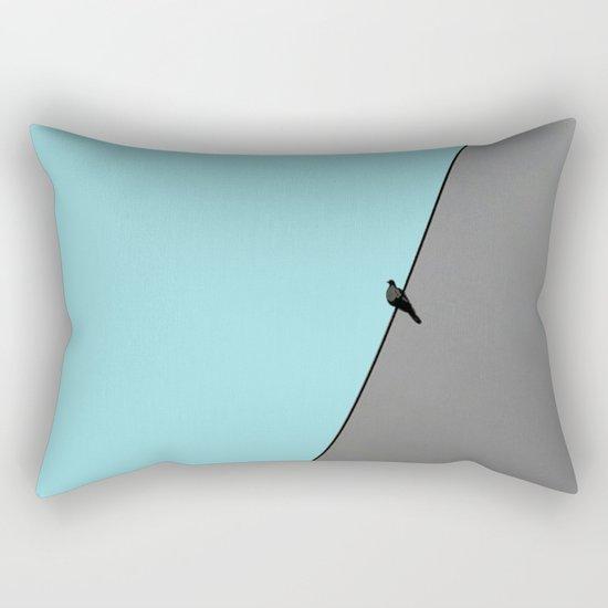 Solitude in blue Rectangular Pillow