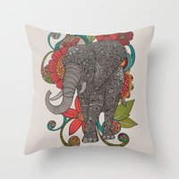 ruby Throw Pillows featuring Ruby by Valentina Harper