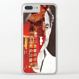 Obscured Face Clear iPhone Case