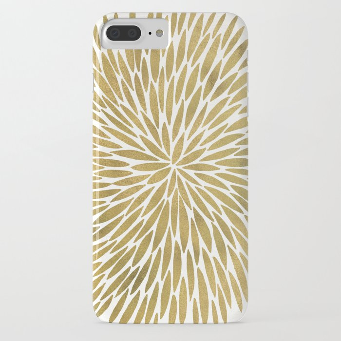 Golden Burst iPhone Case
