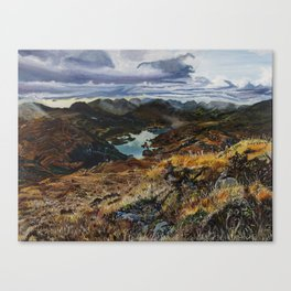 View from Torc Mountain, Killarney National Park, Ireland Canvas Print