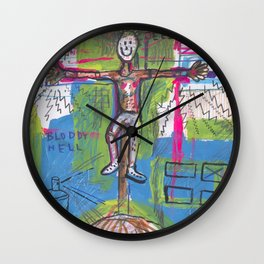 Powers of cannibal Jeezus Wall Clock