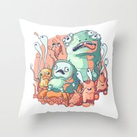 bubblegum Throw Pillows featuring Bubblegum by Ceals
