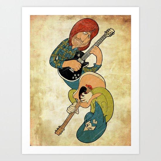 Dual Guitars Art Print