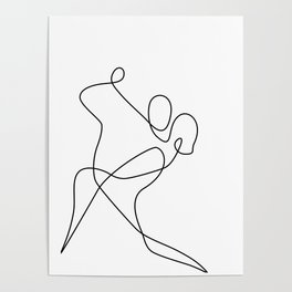 minimal line dance Poster