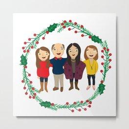 Custom Family Portait Metal Print