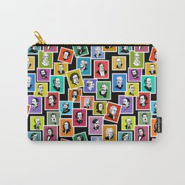 Pattern from stamps with 30 great composers (color version) Carry-All Pouch