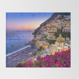 Positano Amalfi Coast Throw Blanket