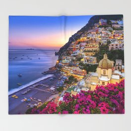 Positano Amalfi Coast Throw Blanket
