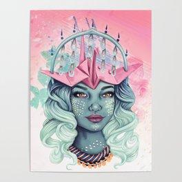 Tsuru Origami Girl Poster