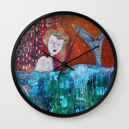 Mermaid's Day Off Wall Clock