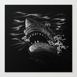 Great White 5 Canvas Print