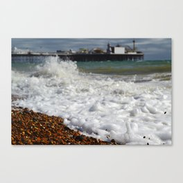 Sea by the Pier Canvas Print