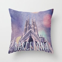 Barcelona Sagrada Familia Throw Pillow