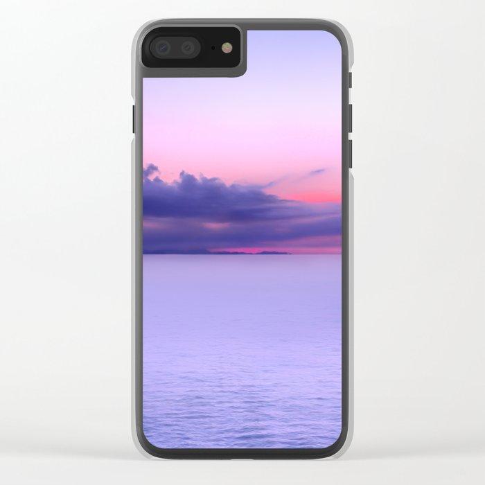 Sunset Indigo Mood Clear iPhone Case