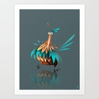 chicken Art Prints featuring Chicken by Chucco