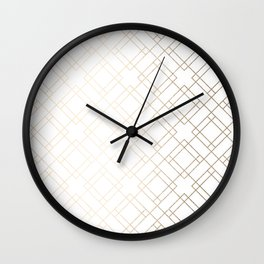 Simply Mod Diamond White Gold Sands on White Wall Clock