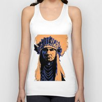 native american Tank Tops featuring Native American Head Dress  by T.E.Perry