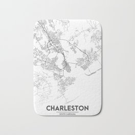 Minimal City Maps - Map Of Charleston, South Carolina, United States Bath Mat