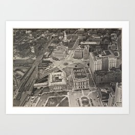 Downtown Providence, East View from Biltmore Art Print
