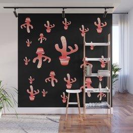 Cactus Girls at night Wall Mural