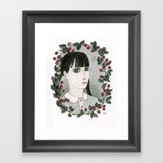 Raspberry Portrait Framed Art Print