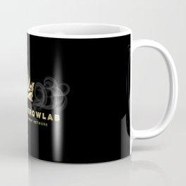 Uptown Growlab Gold Cannabis Crown and Script Wordmark Coffee Mug