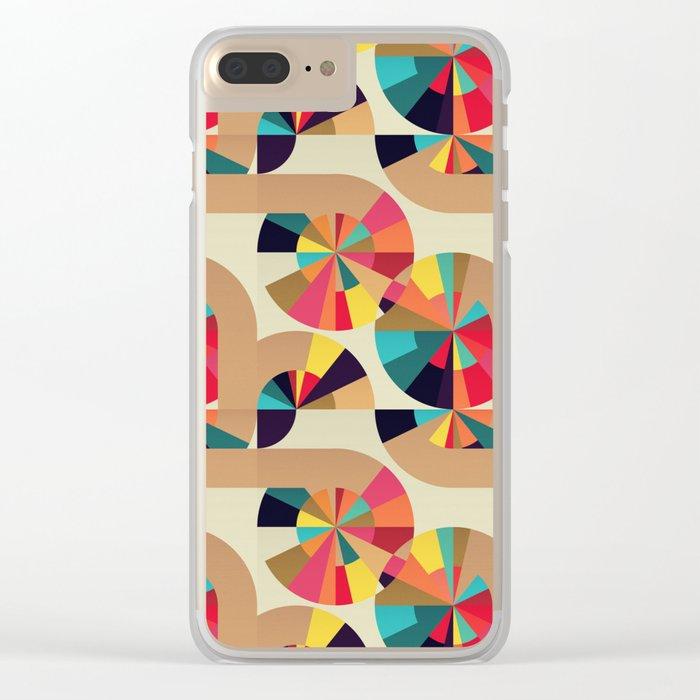 Kaleidoscope Pattern Clear iPhone Case