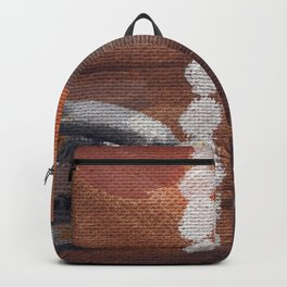 """Thumbnail of the painting """"White beads"""" #1 Backpack"""