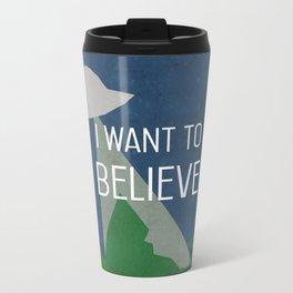 I Want To Believe Metal Travel Mug