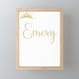 Queens Are Named Emery Personalized First Name Girl design Framed Mini Art Print