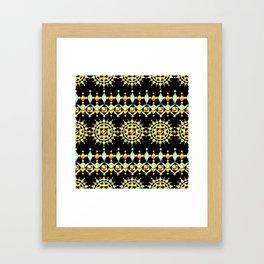 Bijoux Sunburst Stripe Framed Art Print