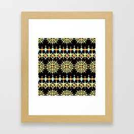 Bijoux Sunburst Stripe Framed Art Print