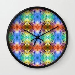 Mixed Media Abstract Pattern Wall Clock