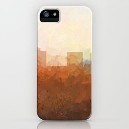 Greensboro, NC Skyline  - In the Clouds iPhone Case