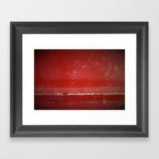 Red Plate Framed Art Print