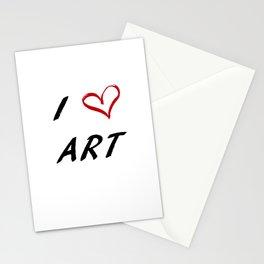 I Love Art Stationery Cards