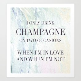Champagne Please Art Print