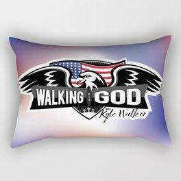 WWGKW Logo - Red, White & Blue Rectangular Pillow