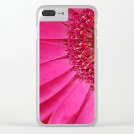 Pink Sunburst Clear iPhone Case