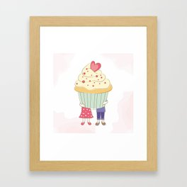 I Cupcake You. Framed Art Print