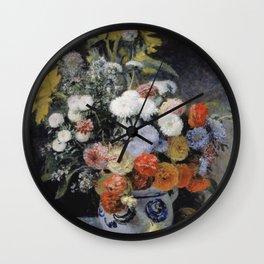 Auguste Renoir - Mixed Flowers In An Earthenware Pot Wall Clock